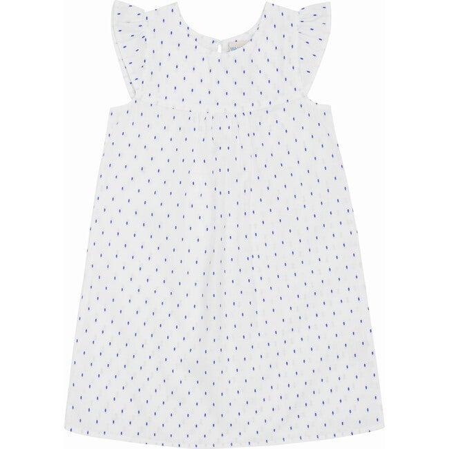 Clemence Nightdress, Navy Swiss Dots