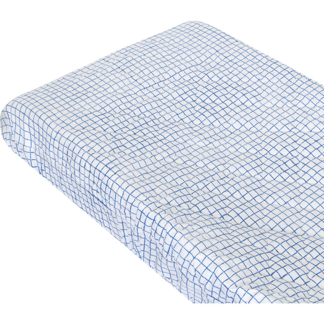 Archie Changing Pad Cover, Blue - Changing Pads - 1