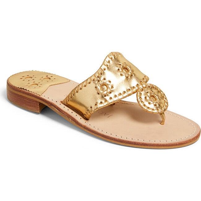 Women's Jacks Flat Sandal, Gold