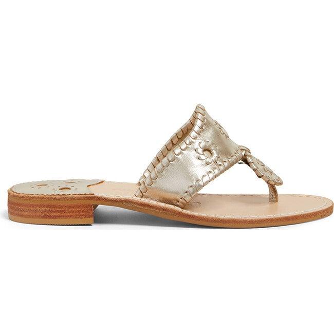 Women's Jacks Flat Sandal, Platinum