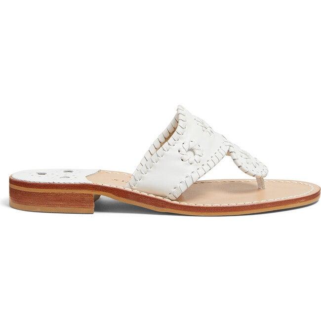Women's Jacks Flat Sandal, White