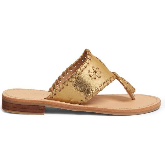 Girls Jacks Flat Sandal, Gold