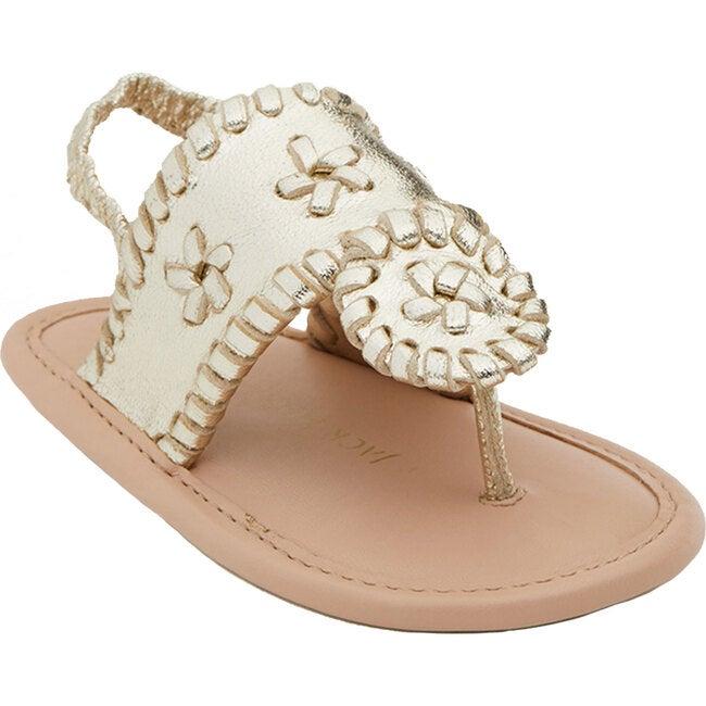 Baby Jacks Flat Sandal, Platinum