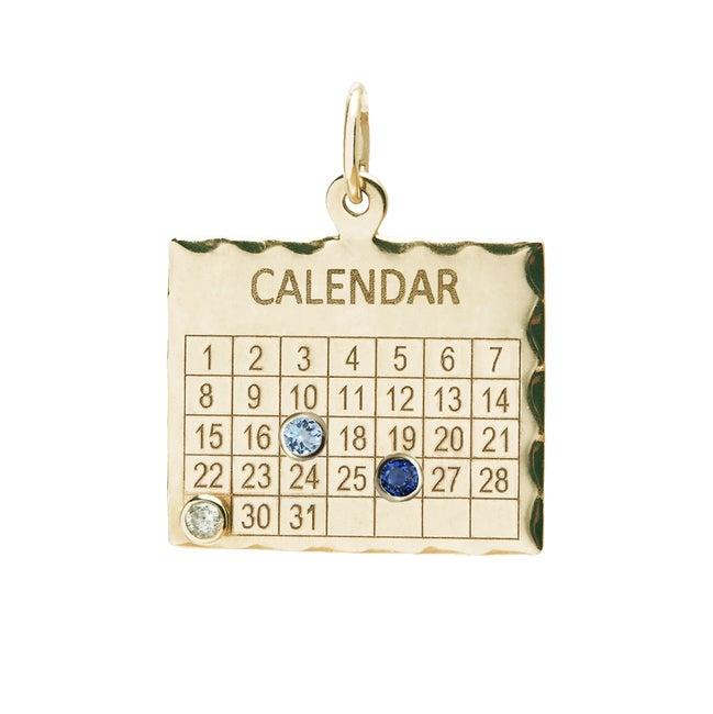 Multiple Date 1960s Calendar Charm