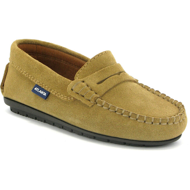 Penny Moccasins in Suede Leather, Beige