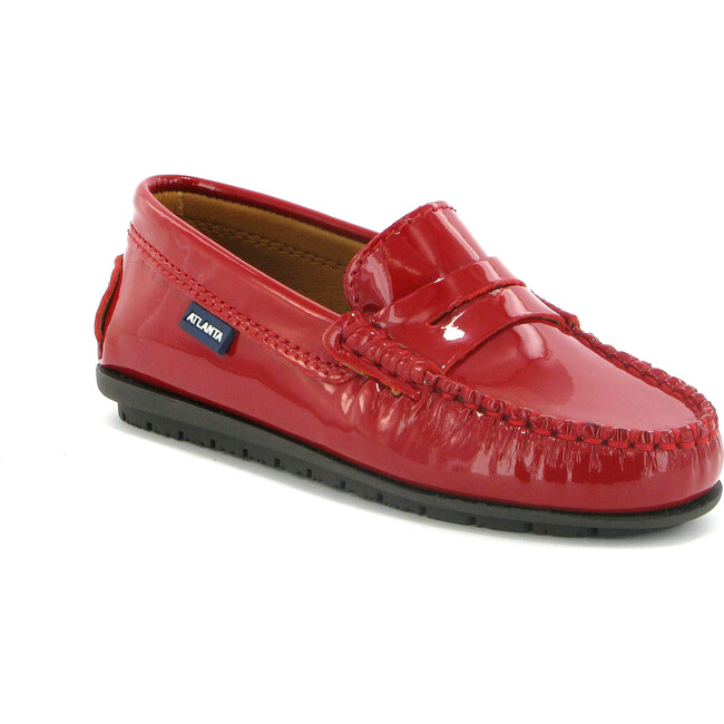 Penny Moccasins in Patent Leather, Red