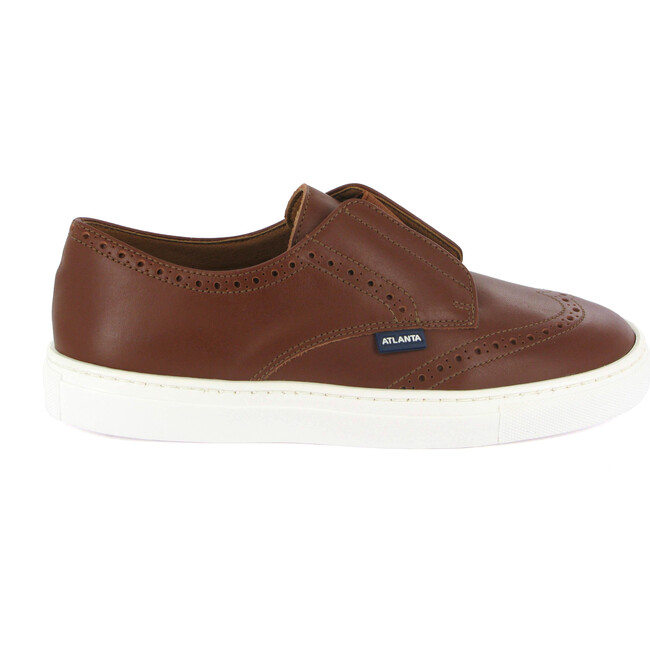 Oxford Elastic Tennis in Smooth Leather, Cuoio