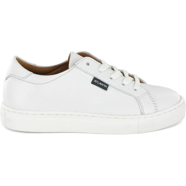 Smooth Leather Sneaker, White