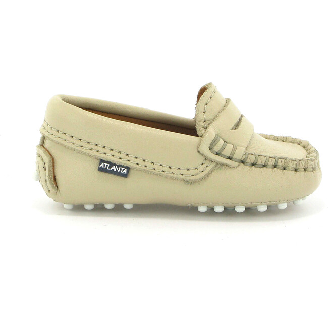 Baby Penny Moccasins in Smooth Leather, Sand