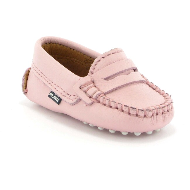Baby Penny Moccasins in Smooth Leather, Pink