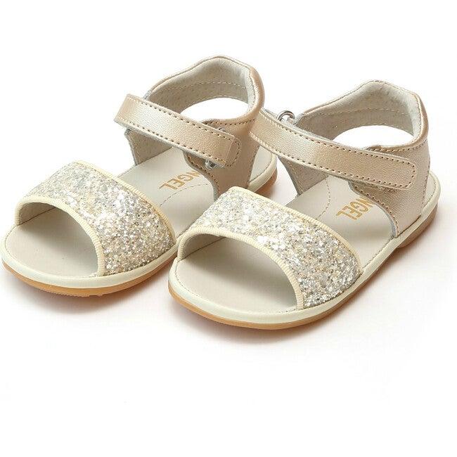 Baby Elise Glitter Open Toe Sandal, Champagne