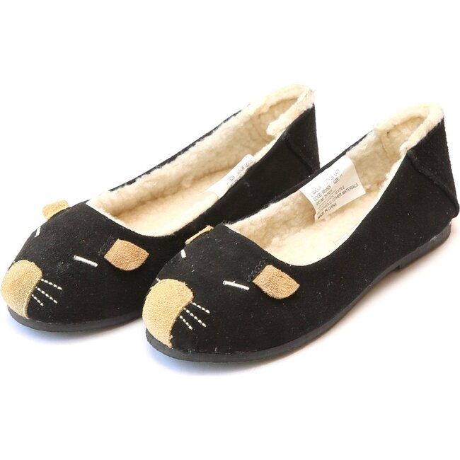 Mousie Leather Flat, Black