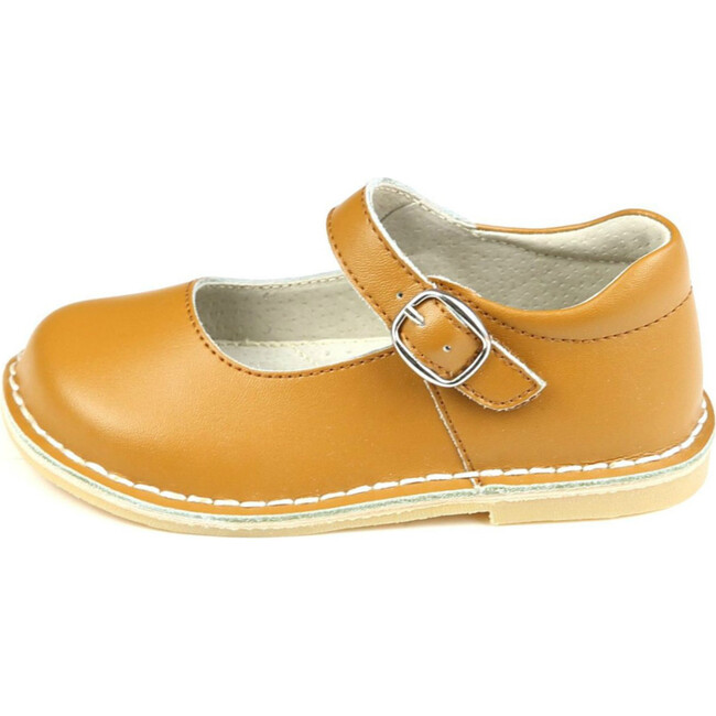 Grace Leather Stitch Down School Mary Jane, Honey Brown