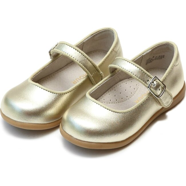 Olga Classic Buckled Mary Jane, Gold