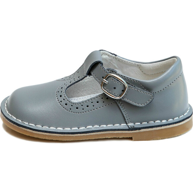 Frances T-Strap Perforated Mary Jane, Grey