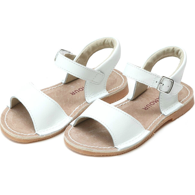 Kayla Open Toe Sandal, White