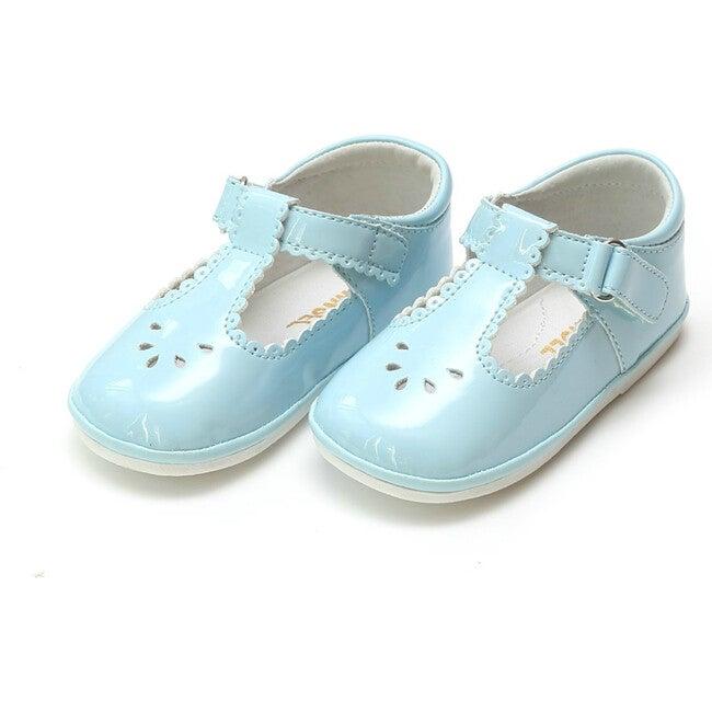 Baby Dottie Scalloped T-Strap Patent Mary Jane, Blue
