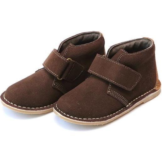 Emmett Nubuck Leather Stitch Down Velcro Desert Boot, Brown