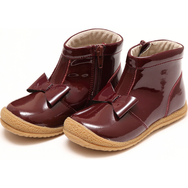 Hilary Bow Boot, Patent Burgundy