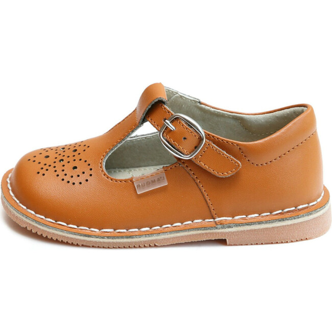 Ollie T-Strap Leather Mary Jane, Terra