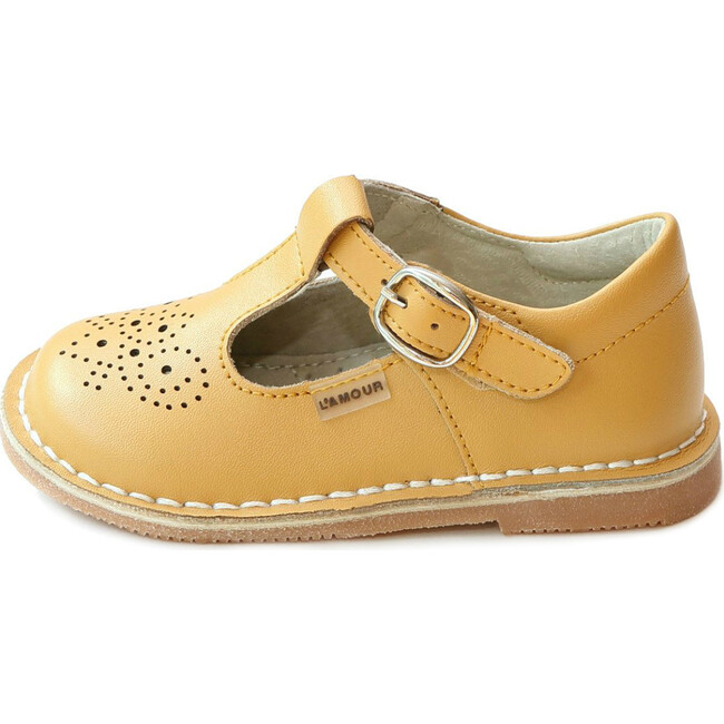 Ollie T-Strap Leather Mary Jane, Mustard