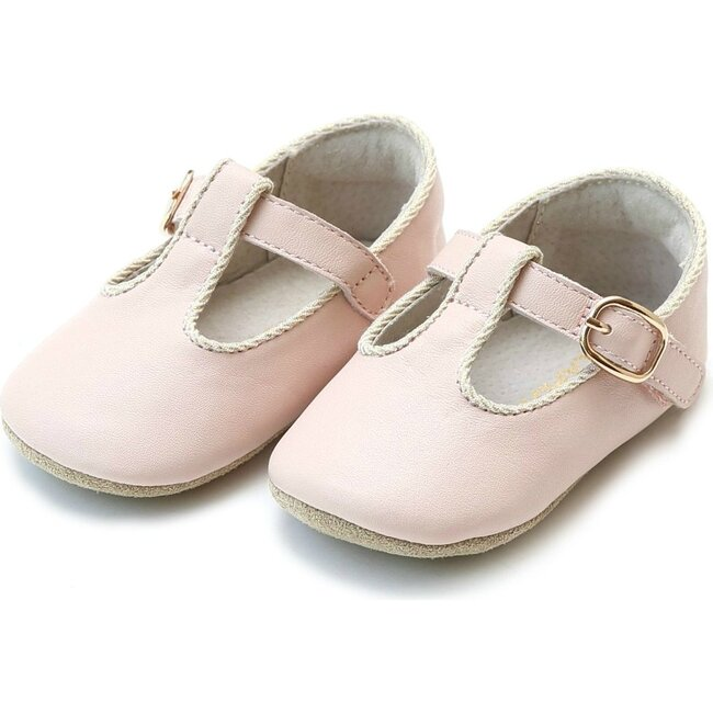Evie T-Strap Mary Jane Crib Shoe, Pink