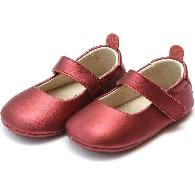 Baby Charlotte Metallic Crib Mary Jane, Red