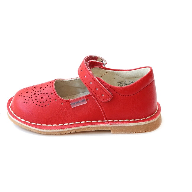 Ollie Stitch Down Leather Mary Jane, Red