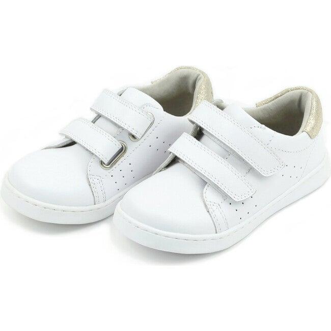 Kenzie Double Velcro Sneaker, White