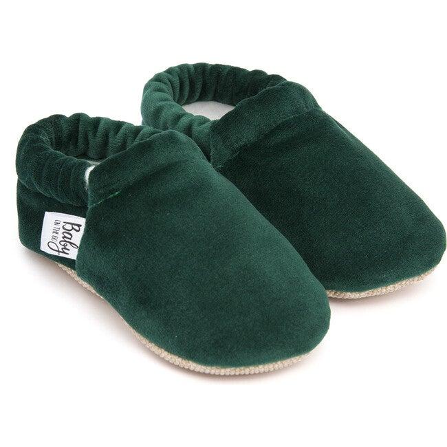 First Steps Slip-On, Green Velvet