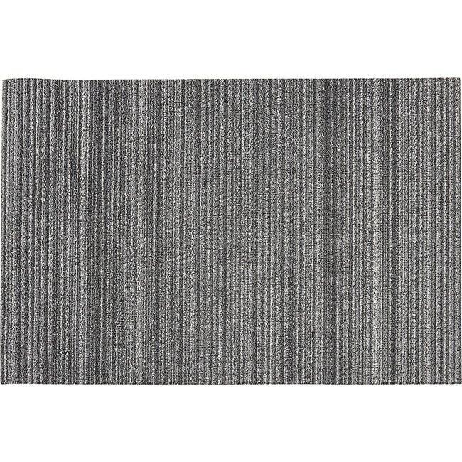 Skinny Stripe Shag Floor Mat, Shadow