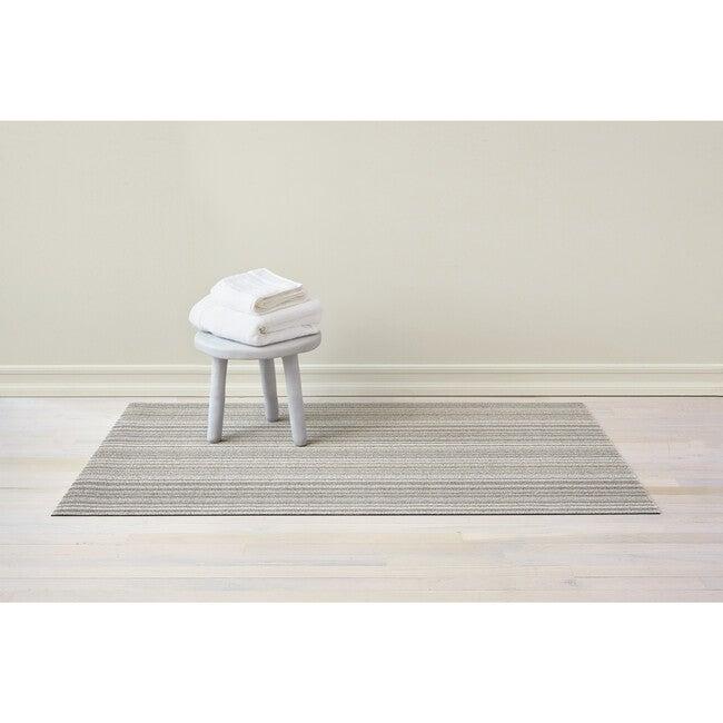 Skinny Stripe Shag Floor Mat, Birch