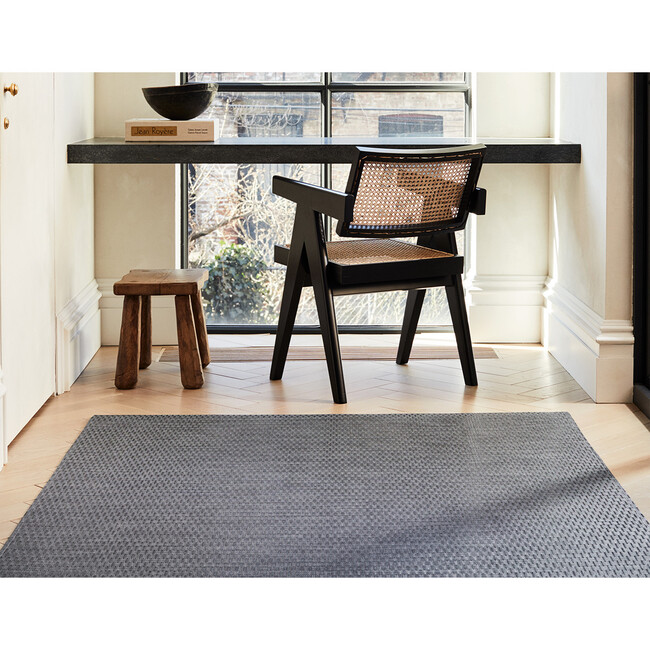 Thatch Floor Mat, Pewter