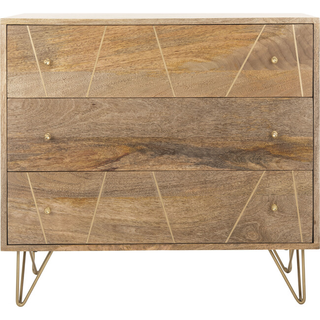 Marigold 3-Drawer Chest, Natural Wood
