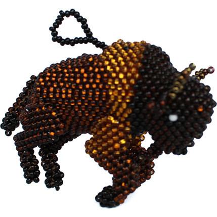 Beaded Buffalo Ornament