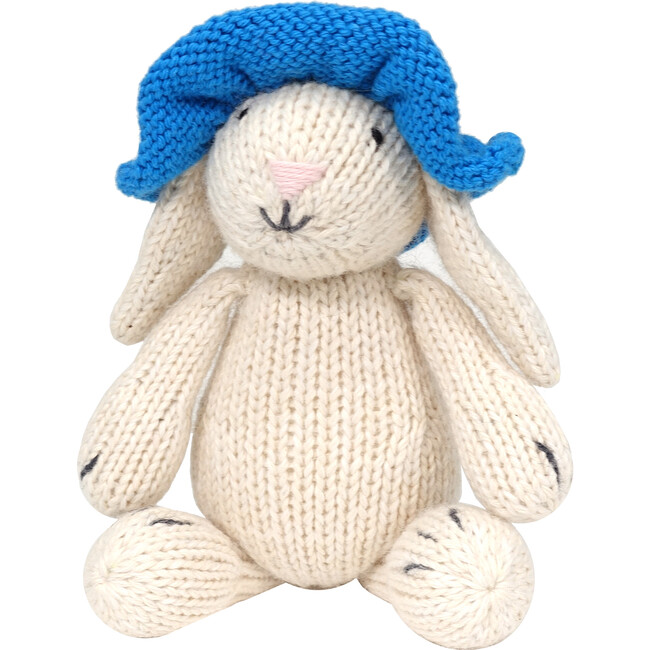 Bunny with Blue Sun Hat - Accents - 1