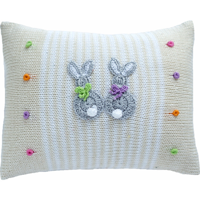 Baby Bunny Pillow, Stripes/Dots