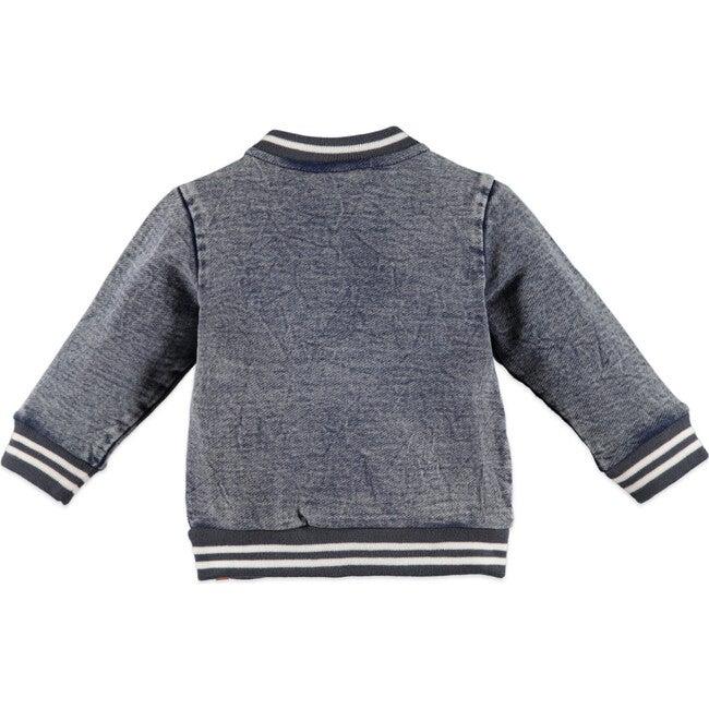 Denim Zip-Up Jacket, Blue Grey