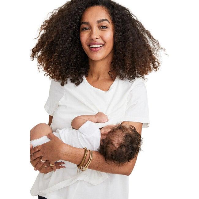 The Women's Luxe Nursing Tee, White