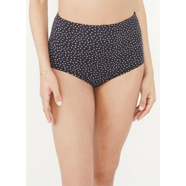 The Women's High Tuck Brief, Black Dancing Hearts