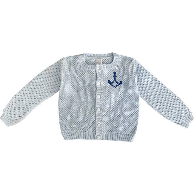 """Embroidered Sweater """"Keep it Cool"""", Light Blue"""