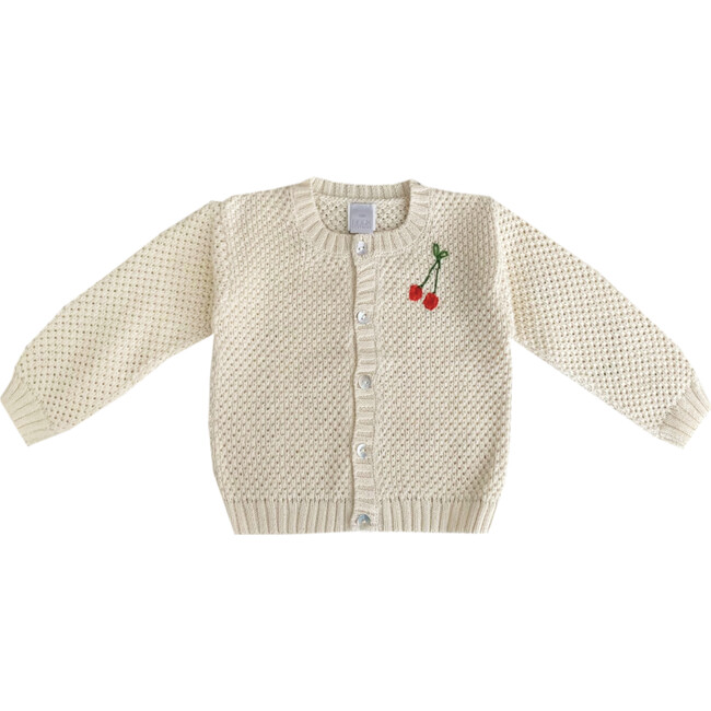 """Embroidered Sweater """"You are Berry Sweet"""", Beige"""
