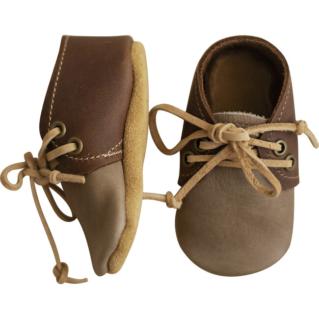 Ollie Oxfords, Taupe and Brown