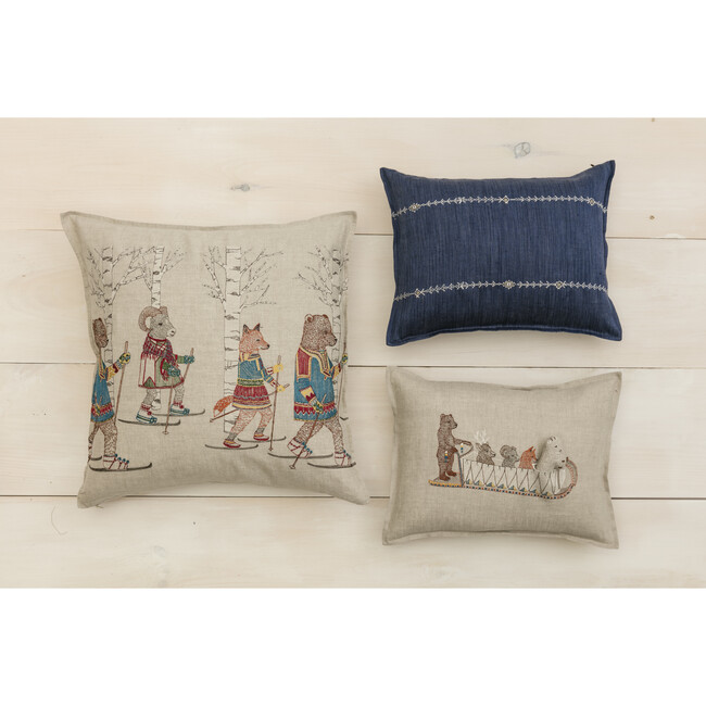 Cross Country Skiers Pillow
