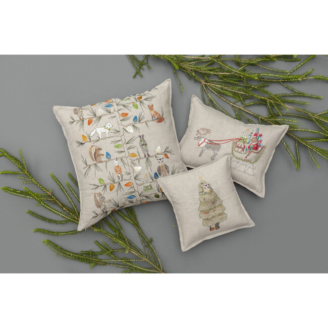 Christmas Tree Trimmers Pillow