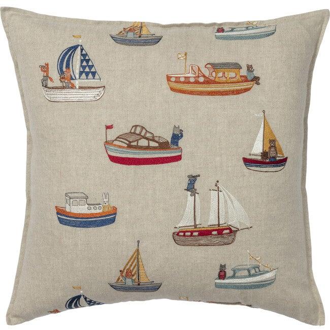 Boats Pattern Pillow