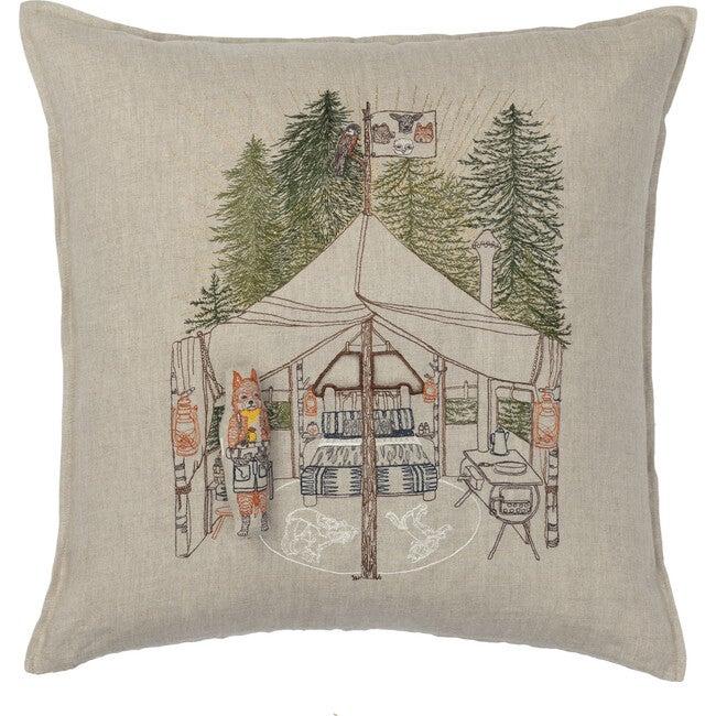 Camper Fox Pocket Pillow