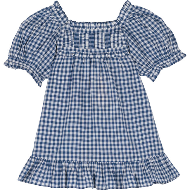 Little Cadiz Dress, Blue Gingham