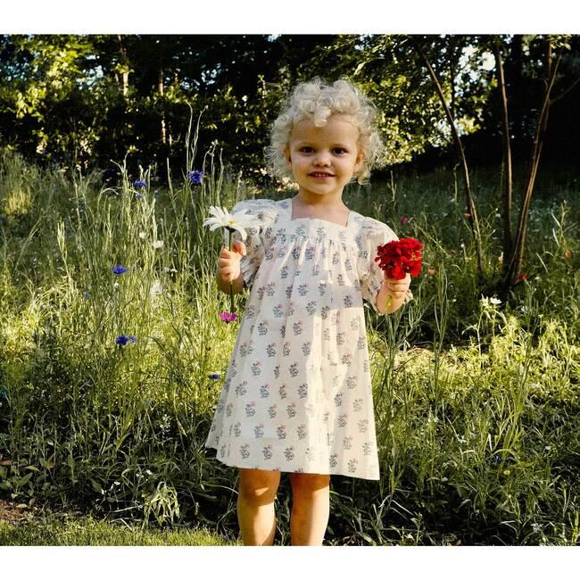Etty Dress, Red Dahlia Block Print