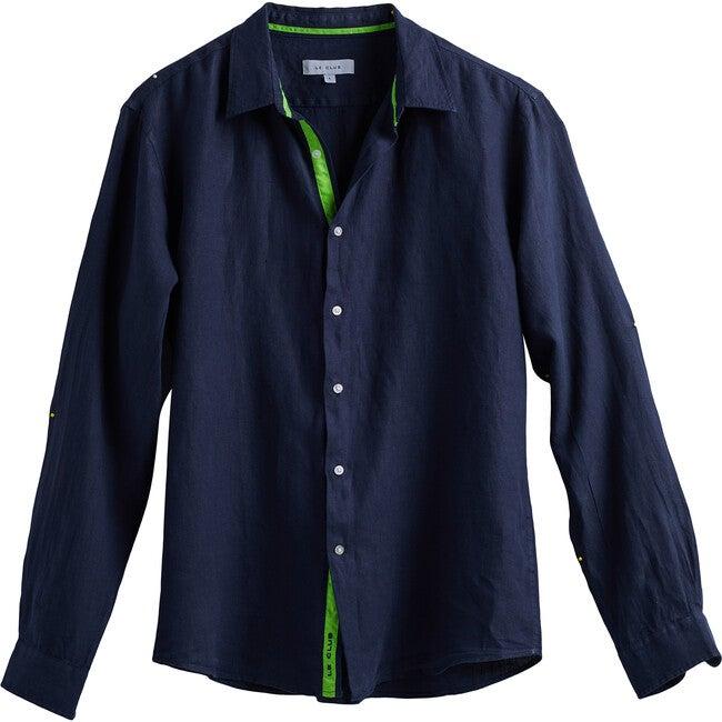 Men's Peter Linen Shirt, Navy